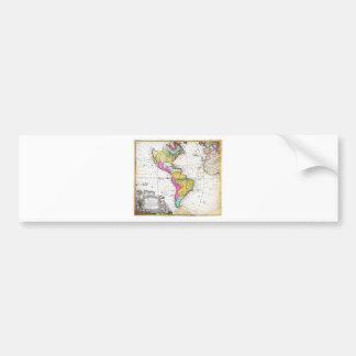 1746 Homann Heirs Map of South North America G Bumper Sticker