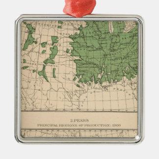 174 Apples, pears, principal regions Christmas Ornament