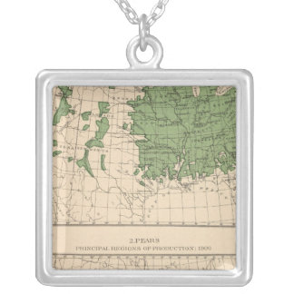 174 Apples, pears, principal regions Silver Plated Necklace