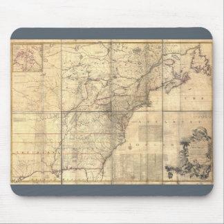 1750 Mitchell Map America Mouse Mat