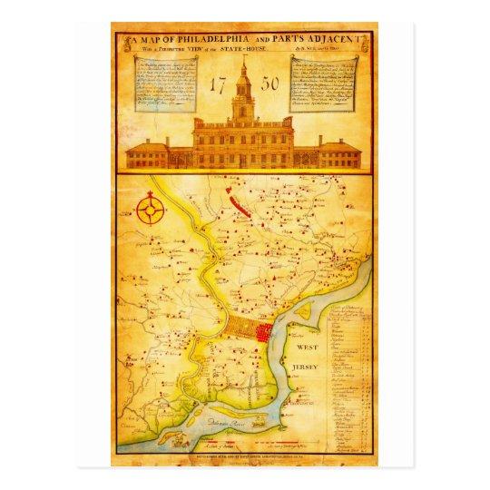 1752 1850 Scull Heap Map of Philadelphia E