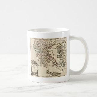 1752 Map of Ancient Greece Coffee Mug