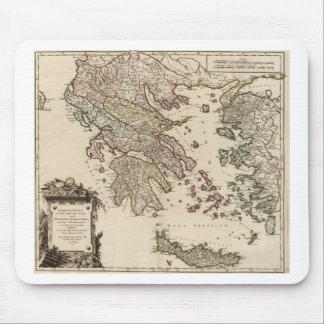 1752 Map of Ancient Greece Mouse Pad
