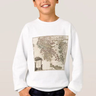 1752 Map of Ancient Greece Sweatshirt