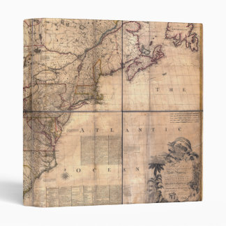 1757 British & French Dominions North America Map Binders
