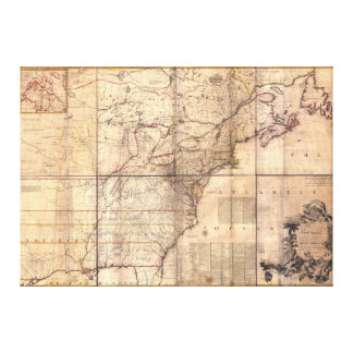 1757 British & French Dominions North America Map Gallery Wrapped Canvas