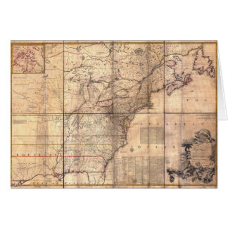 1757 British & French Dominions North America Map Greeting Card