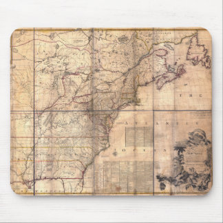 1757 British & French Dominions North America Map Mouse Pad
