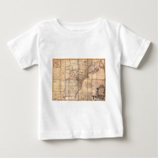 1757 British & French Dominions North America Map T-shirts