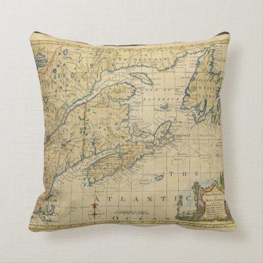 1758 New England & Nova Scotia Map Thomas
