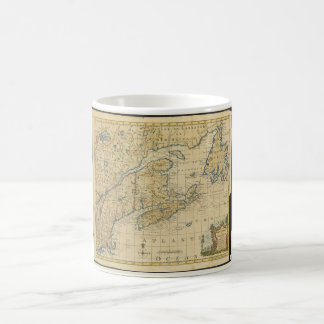 1758 New England & Nova Scotia Map Thomas Kitchin Classic White Coffee Mug