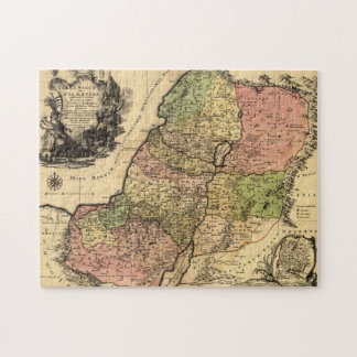1759 Map Of Ancient Israel With The 12 Tribes Jigsaw Puzzle