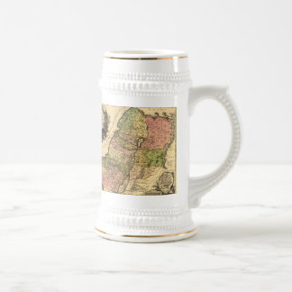 1759 - Map Of Ancient Israel With The 12 Tribes Coffee Mugs