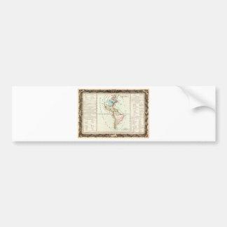 1760 Desnos and De La Tour Map of North America an Bumper Sticker