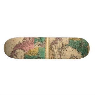 1763 North America Map Skate Board Deck