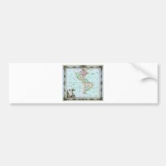 1764 Brion de la Tour Map of America ( North Ameri Bumper Sticker