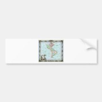 1764 Brion de la Tour Map of America North Ameri Bumper Stickers