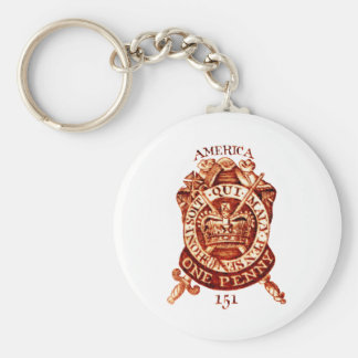 1765 American Tax Stamp Key Chains