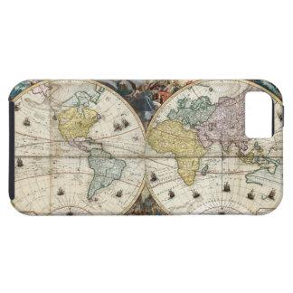 1766 World Map Tough iPhone 5 Case