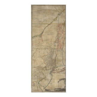 1768 Jeffreys Map of New York and New Jersey Poster
