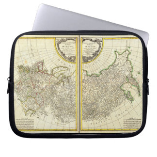 1771 Rigobert Bonne Map of Russia Laptop Sleeve