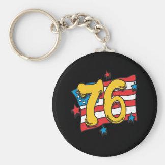 1776 BASIC ROUND BUTTON KEY RING