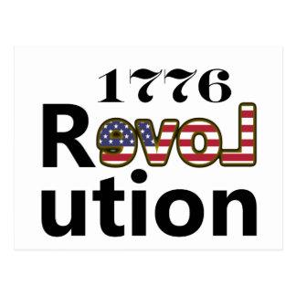 "1776 ""Love USA"" Revolution Postcard"