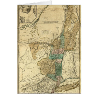 1776 map of New York, New Jersey and Quebec Card