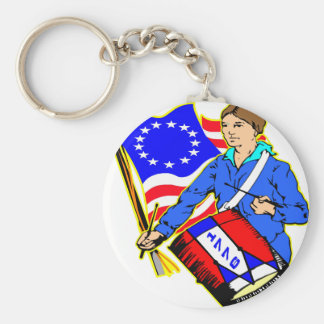 1776 Revolutionary War For Independence Basic Round Button Key Ring
