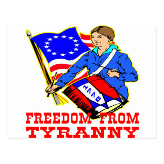 1776 Revolutionary War Freedom From Tyranny Postcard