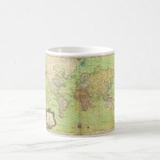 1778 Bellin Nautical Chart or Map of the World Basic White Mug