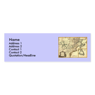 1778 Map of Canada and the United States Pack Of Skinny Business Cards