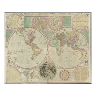 1780 world map posters prints zazzle 1780 map of the world poster gumiabroncs Gallery