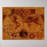 1780 Old World Map Art