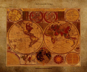 Old world maps posters prints zazzle uk 1780 old world map on parchment effect art poster gumiabroncs Gallery