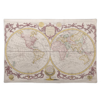 1782 Baldwyn Map of the World Placemat