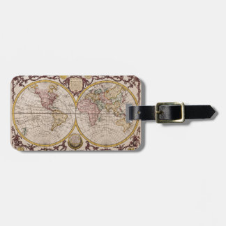 1782 Map of the World by George Augustus Baldwyn Bag Tags
