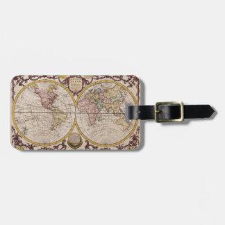 1782 Map of the World by George Augustus Baldwyn Luggage Tag