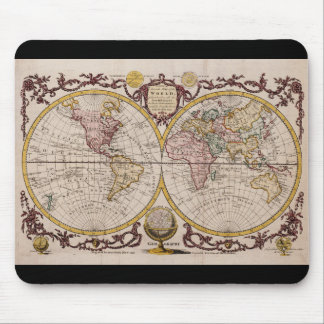 1782 Map of the World by George Augustus Baldwyn Mouse Mat