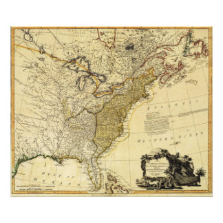 1784 Map of the United States of America by Faden Photo Art