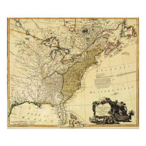 1784 Map of the United States of America by Faden Photo