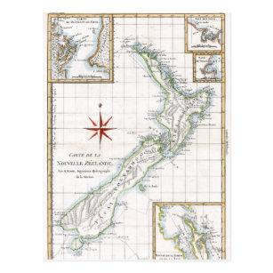 1787 New Zealand Map Postcard