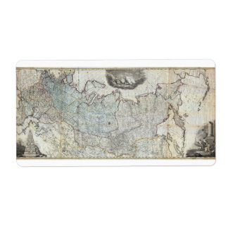 1787 Wall Map of the Russian Empire Shipping Label