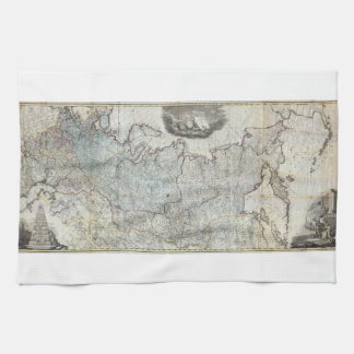 1787 Wall Map of the Russian Empire Tea Towel