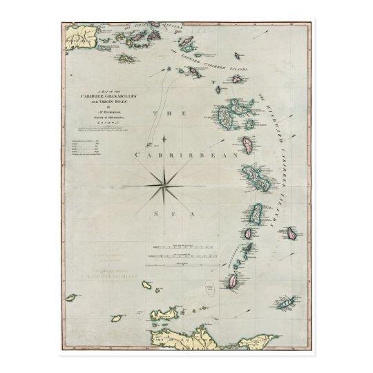 1789 Caribbean Islands Postcard
