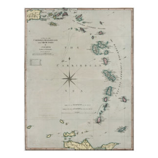 1789 Caribbean Islands Poster