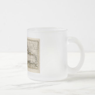 1790 Map of The West Indies by Dilly and Robinson Frosted Glass Coffee Mug