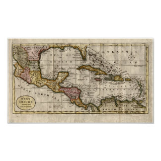 1790 Map of The West Indies by Dilly and Robinson Poster