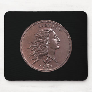 1793 Flowing Hair Large Cent Mouse Pad