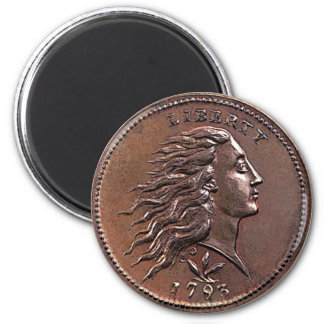 1793 Flowing Hair U.S. Penny Magnet